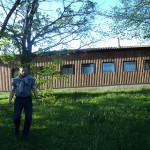 Наш гостеприимный вагончик в Свято-Преображенском монастыре
