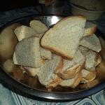 Изумительный монастырский хлеб, и всё- такое вкусное...